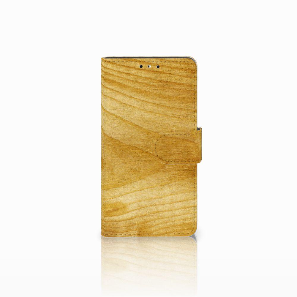 Huawei Y5 | Y6 2017 Uniek Boekhoesje Licht Hout