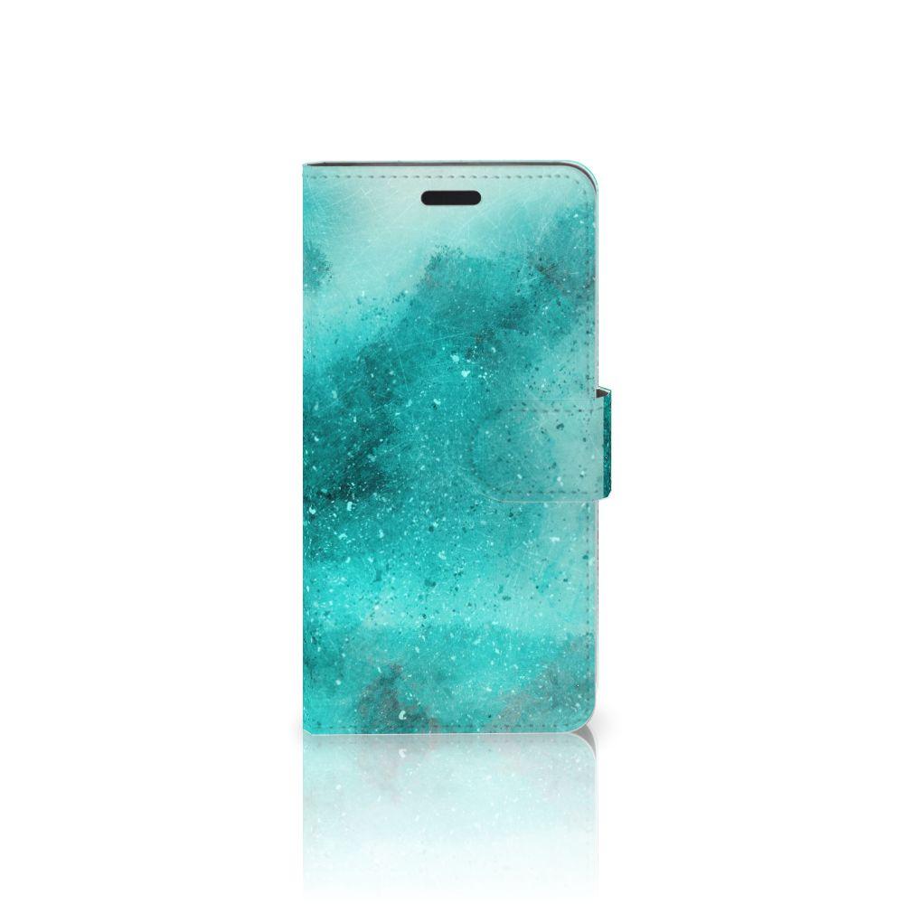 HTC 10 Uniek Boekhoesje Painting Blue