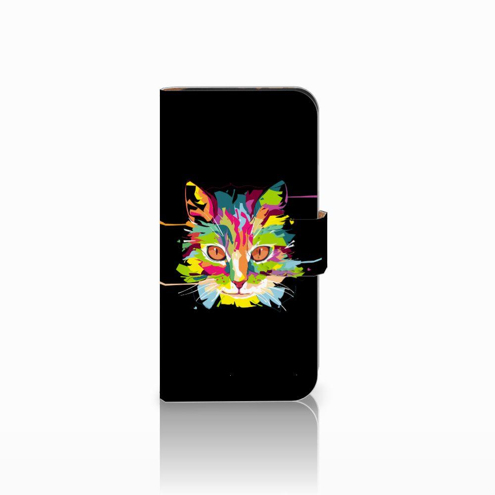 HTC One Mini 2 Uniek Boekhoesje Cat Color