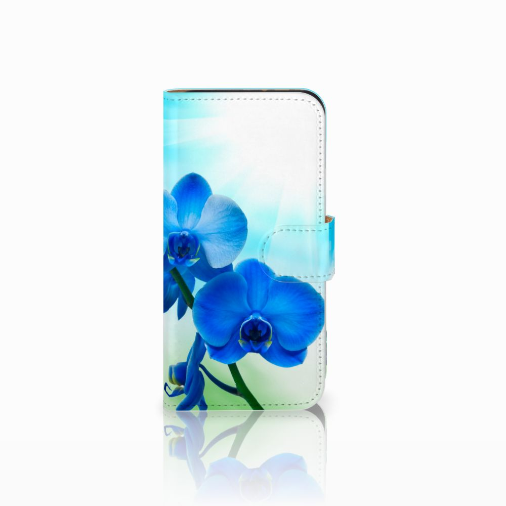 HTC One Mini 2 Boekhoesje Design Orchidee Blauw