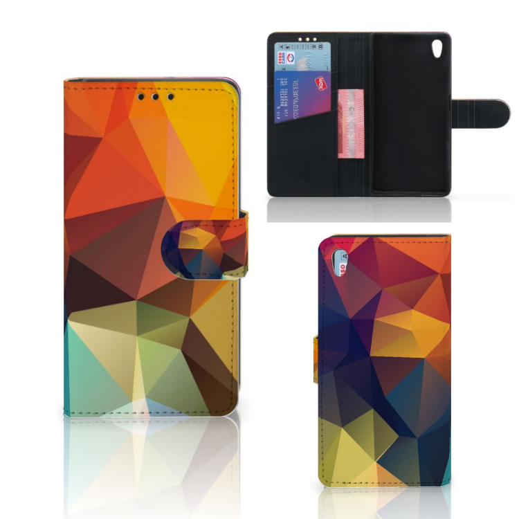 Sony Xperia Z5 | Z5 Dual Bookcase Polygon Color