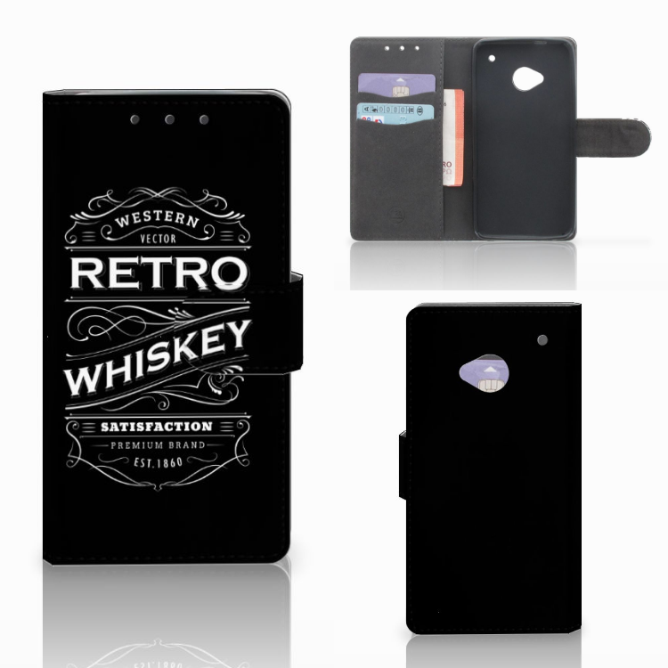 HTC One M7 Book Cover Whiskey