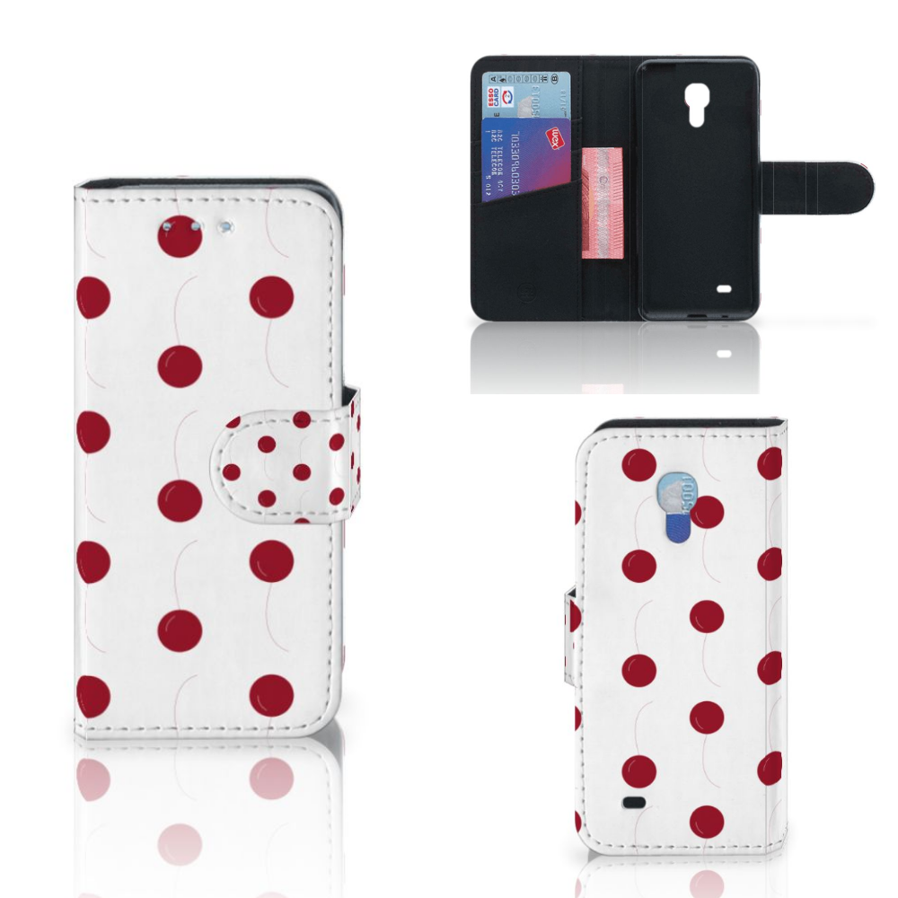 Samsung Galaxy S4 Mini i9190 Book Cover Cherries