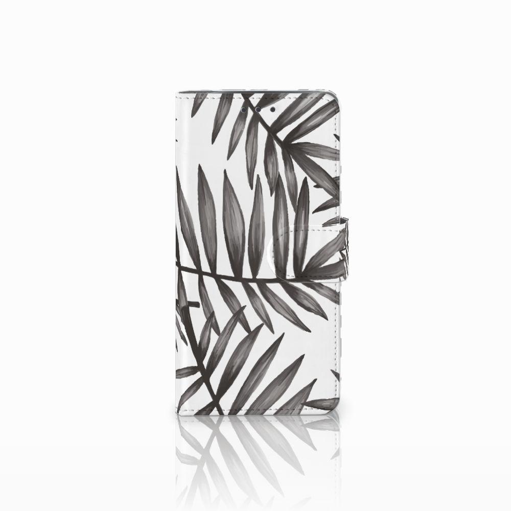 Motorola Moto X4 Uniek Boekhoesje Leaves Grey