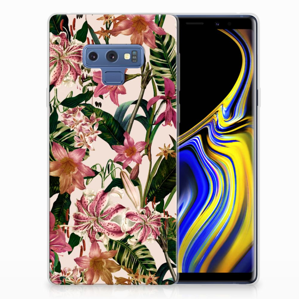 Samsung Galaxy Note 9 Uniek TPU Hoesje Flowers