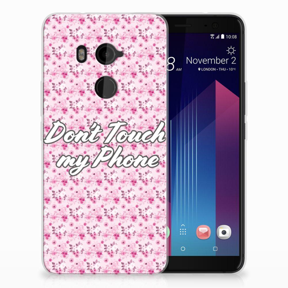 HTC U11 Plus Uniek TPU Hoesje Flowers Pink DTMP
