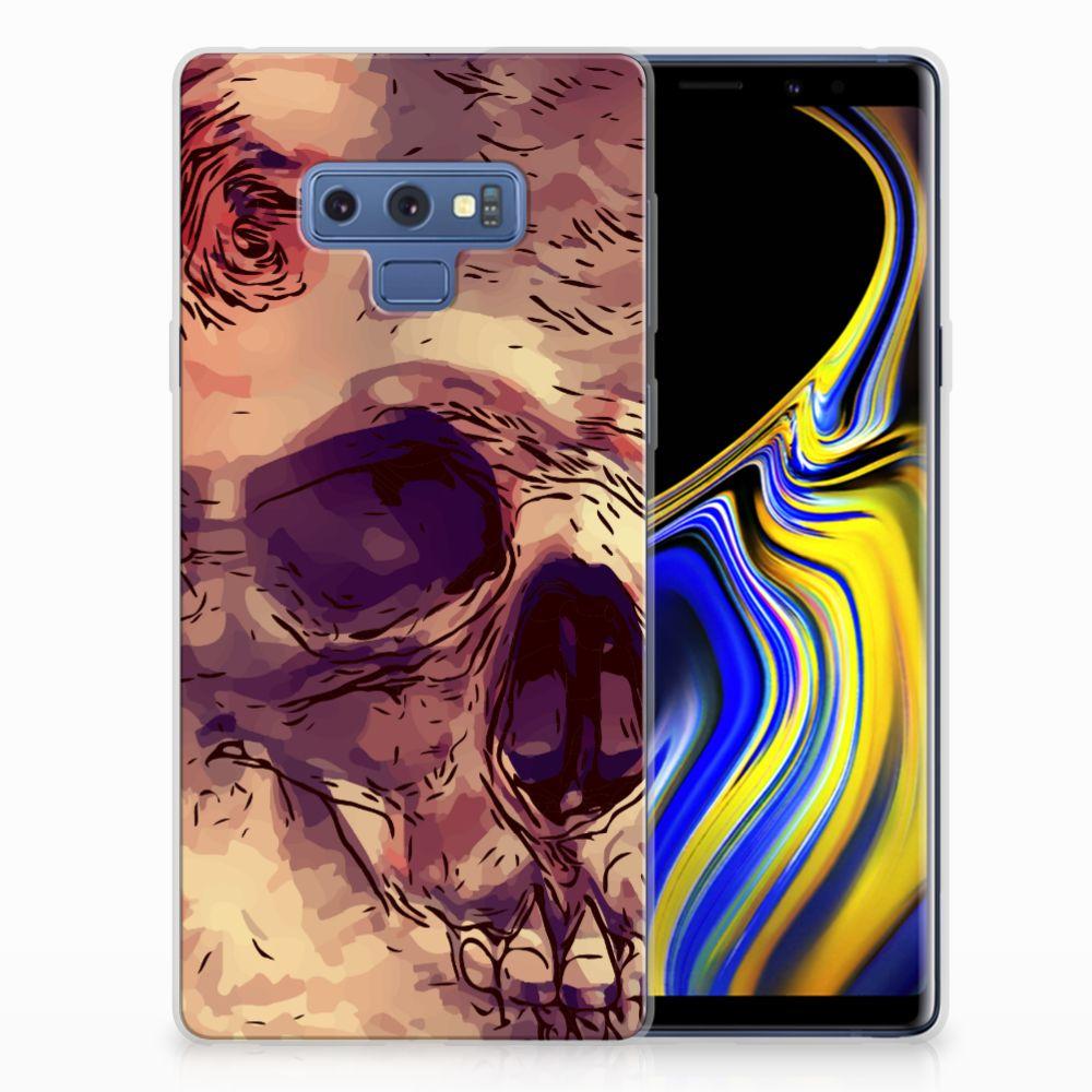 Silicone Back Case Samsung Galaxy Note 9 Skullhead