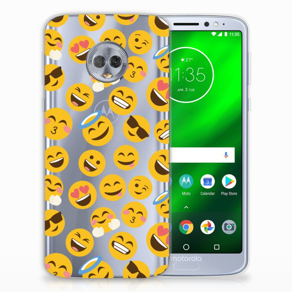 Motorola Moto G6 Plus TPU bumper Emoji