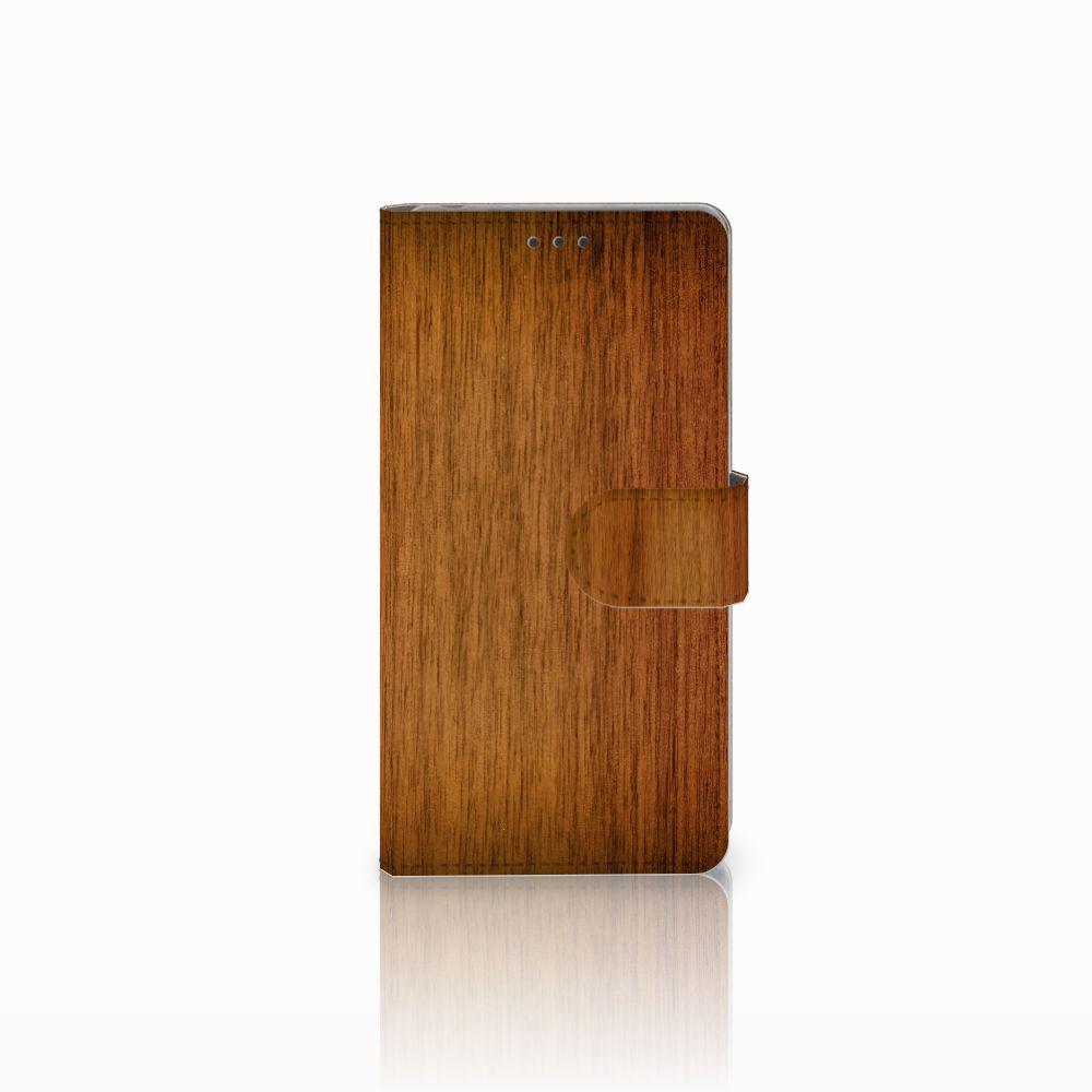 Sony Xperia Z Uniek Boekhoesje Donker Hout