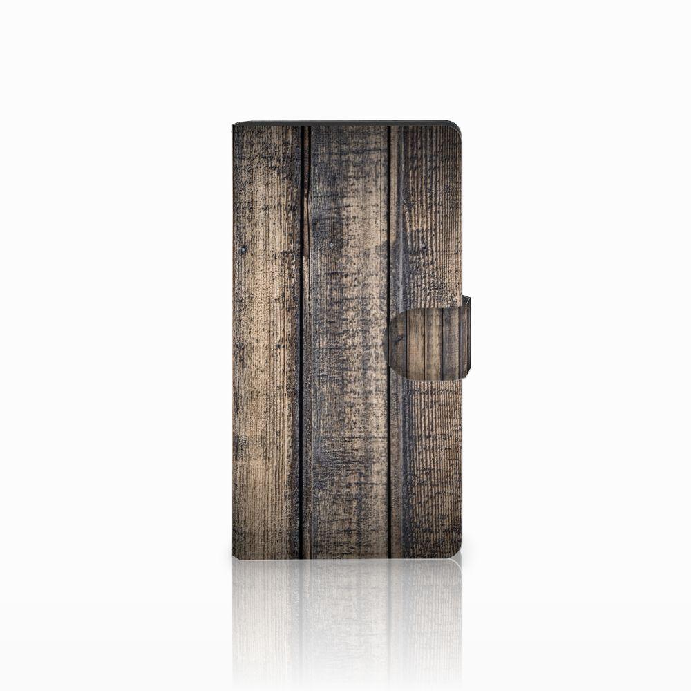 Sony Xperia C4 Boekhoesje Design Steigerhout