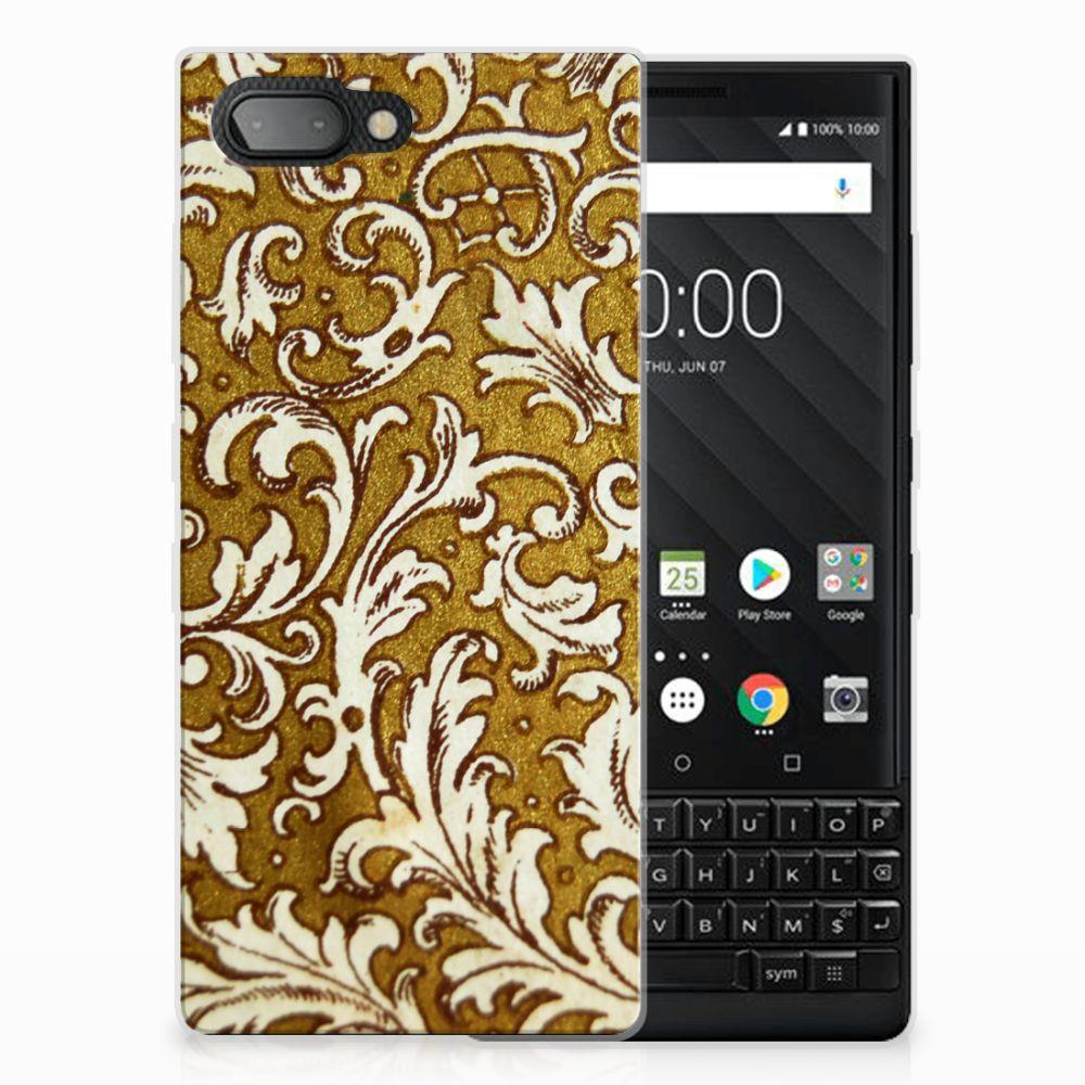 Siliconen Hoesje BlackBerry Key2 Barok Goud