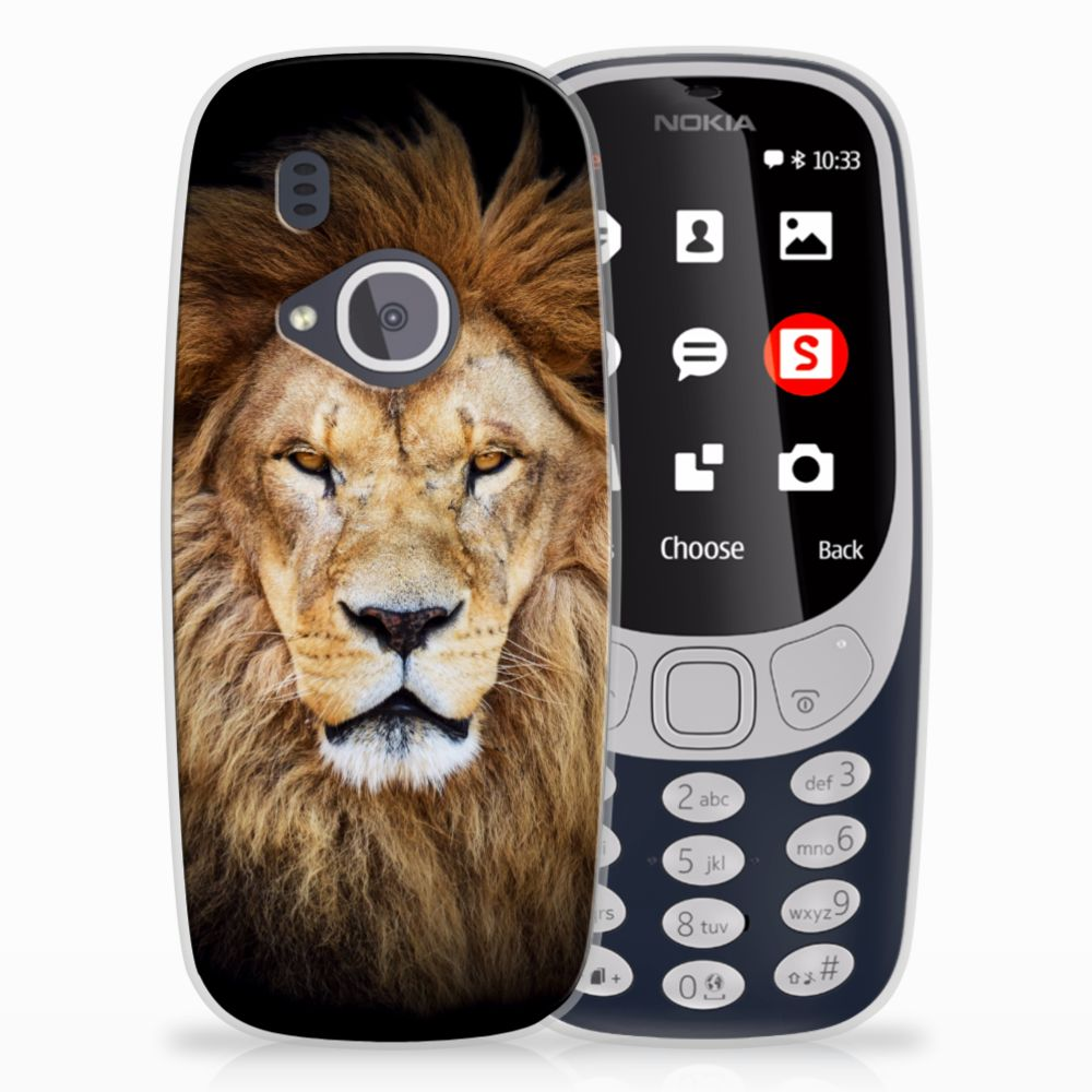 Nokia 3310 (2017) Uniek TPU Hoesje Leeuw
