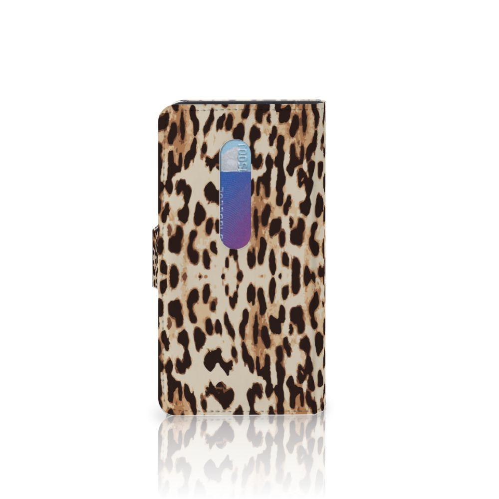 Motorola Moto G 3e Generatie Telefoonhoesje met Pasjes Leopard