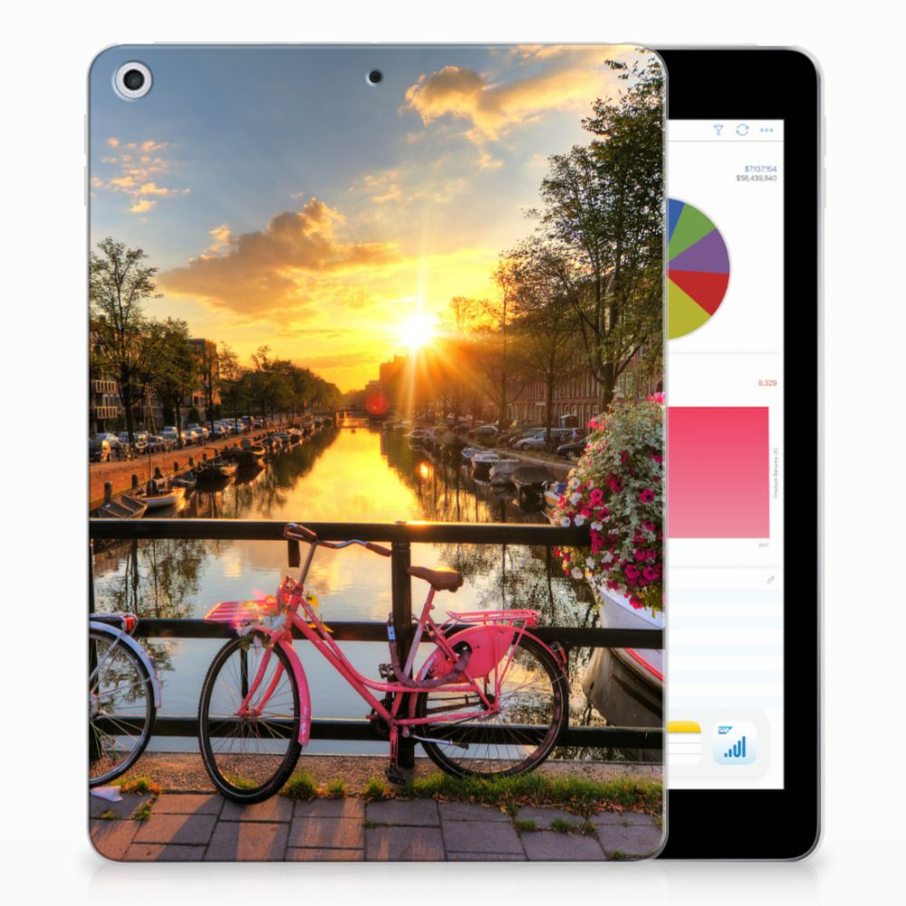 Apple iPad 9.7 2018 | 2017 Uniek Tablethoesje Amsterdamse Grachten