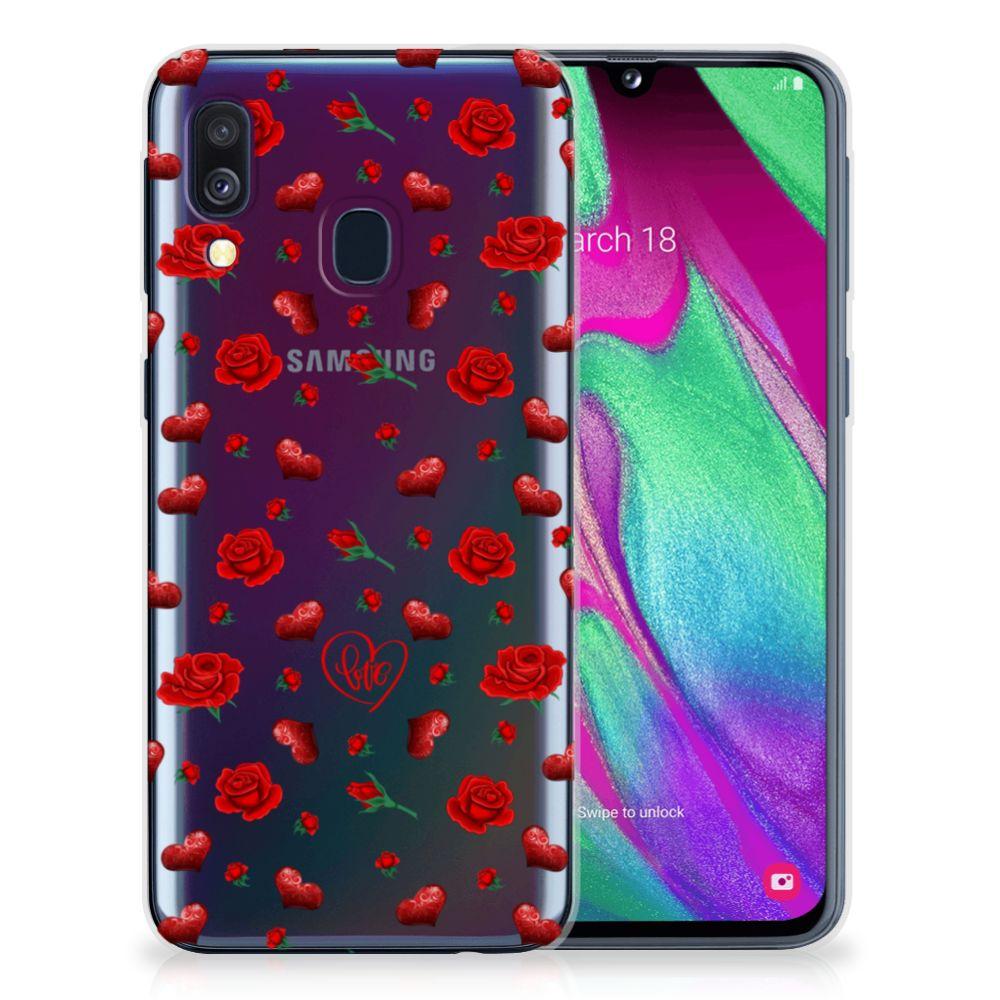 Samsung Galaxy A40 Telefoonhoesje met Naam Valentine
