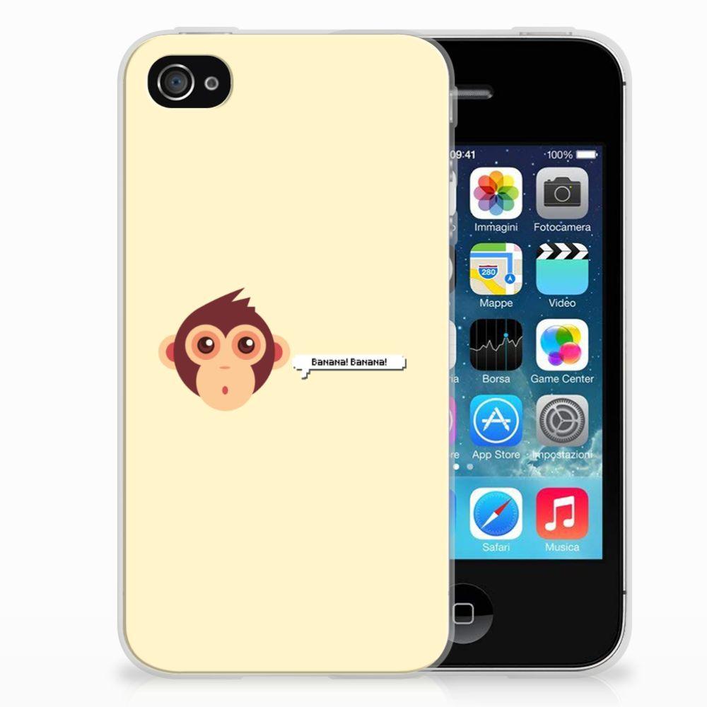 Apple iPhone 4   4s Telefoonhoesje met Naam Monkey