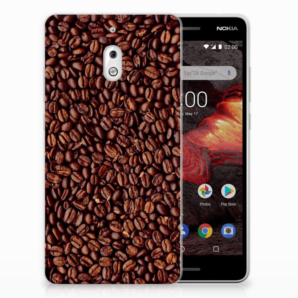 Nokia 2.1 (2018) Siliconen Case Koffiebonen