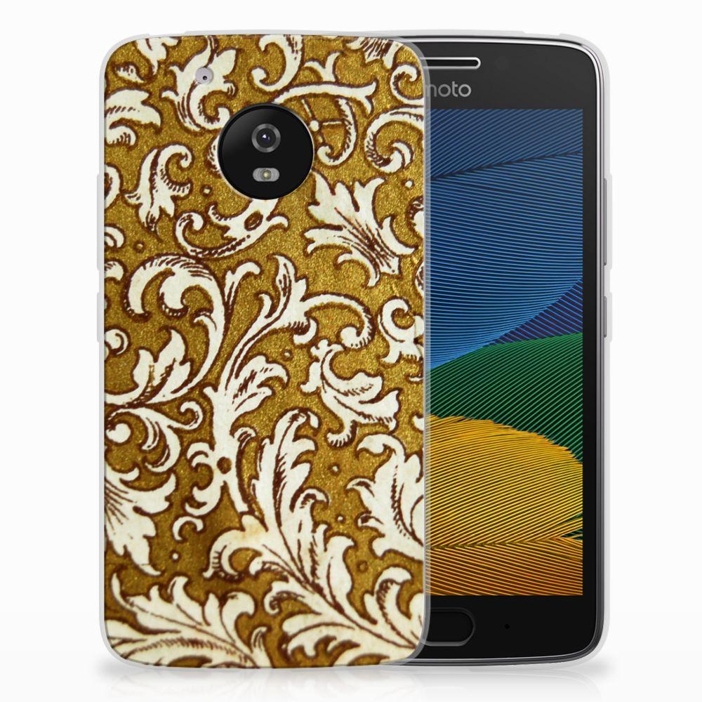 Siliconen Hoesje Motorola Moto G5 Barok Goud