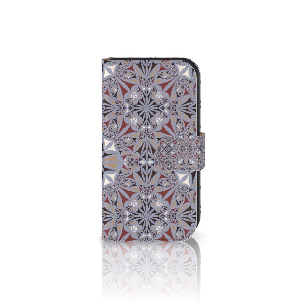 Samsung Galaxy Ace 4 4G (G357-FZ) Boekhoesje Design Flower Tiles