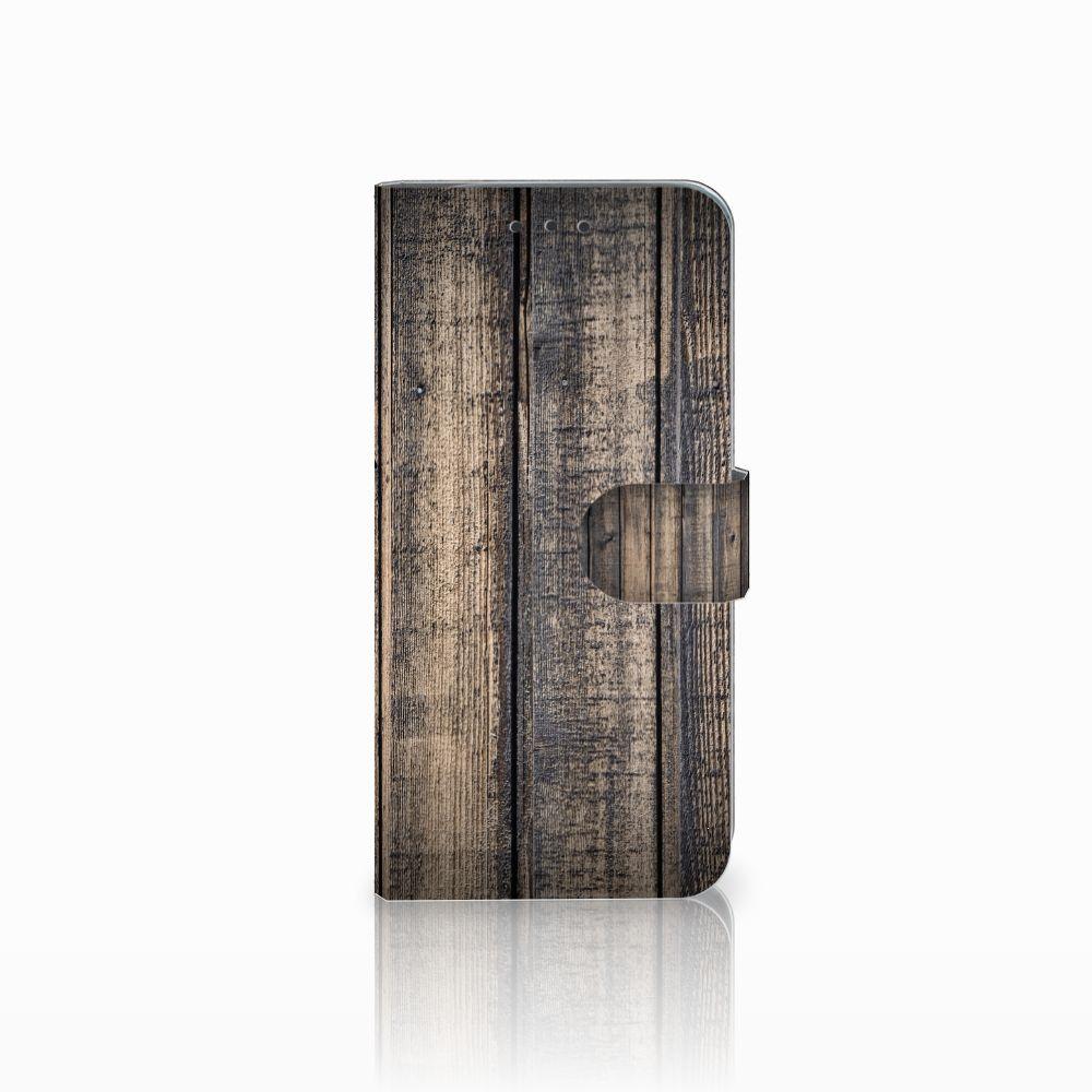 Motorola Moto G6 Play Boekhoesje Design Steigerhout