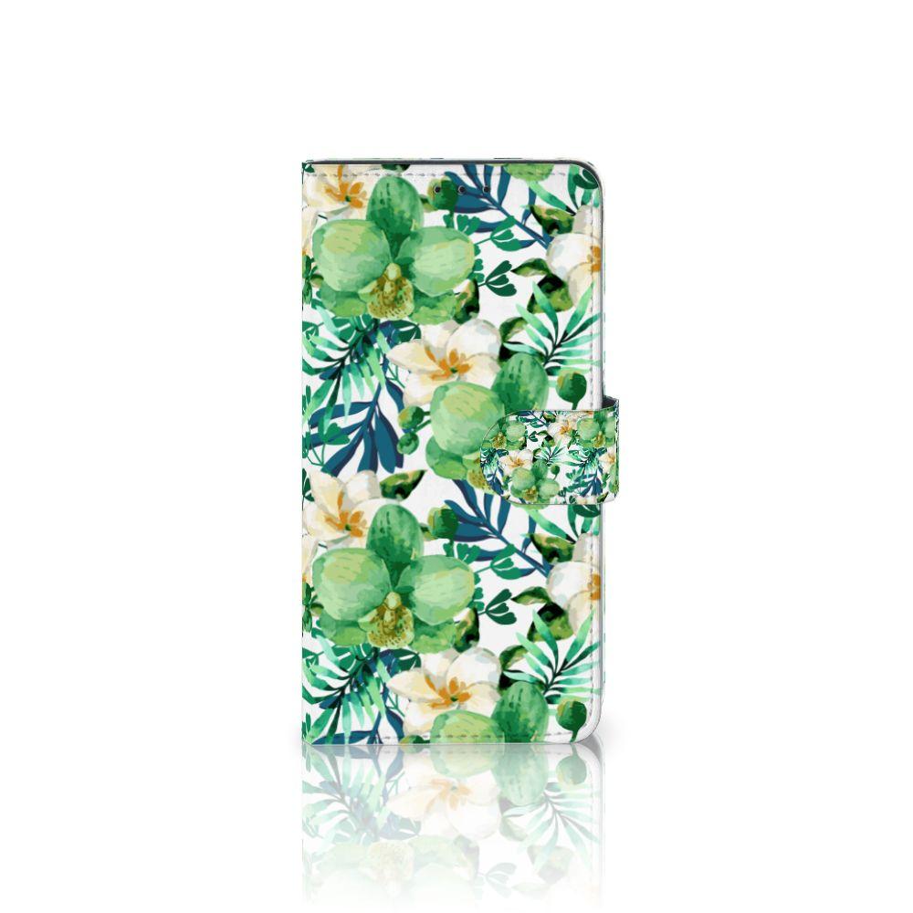 Samsung Galaxy A8 Plus (2018) Hoesje Orchidee Groen