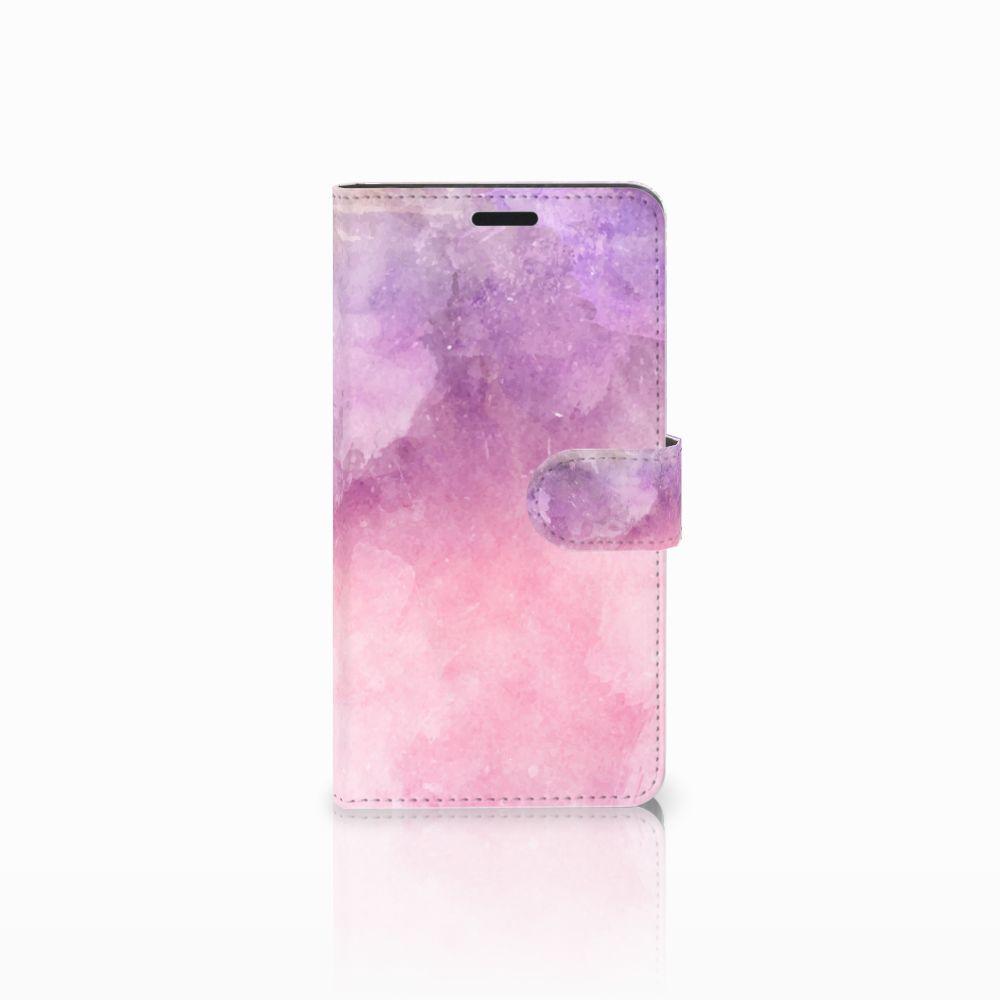 Sony Xperia T3 Boekhoesje Design Pink Purple Paint