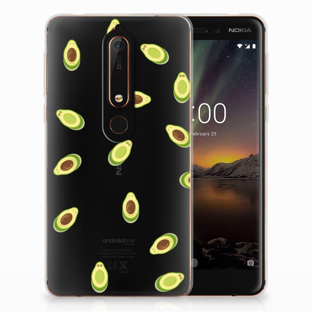 Nokia 6 (2018) Siliconen Case Avocado
