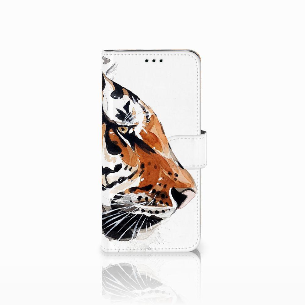 Samsung Galaxy J6 2018 Uniek Boekhoesje Watercolor Tiger