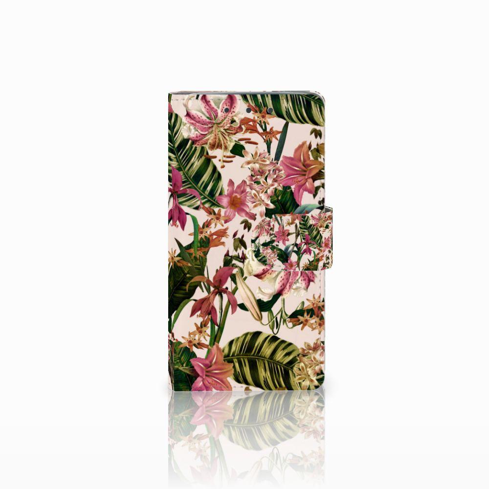 HTC One M7 Uniek Boekhoesje Flowers