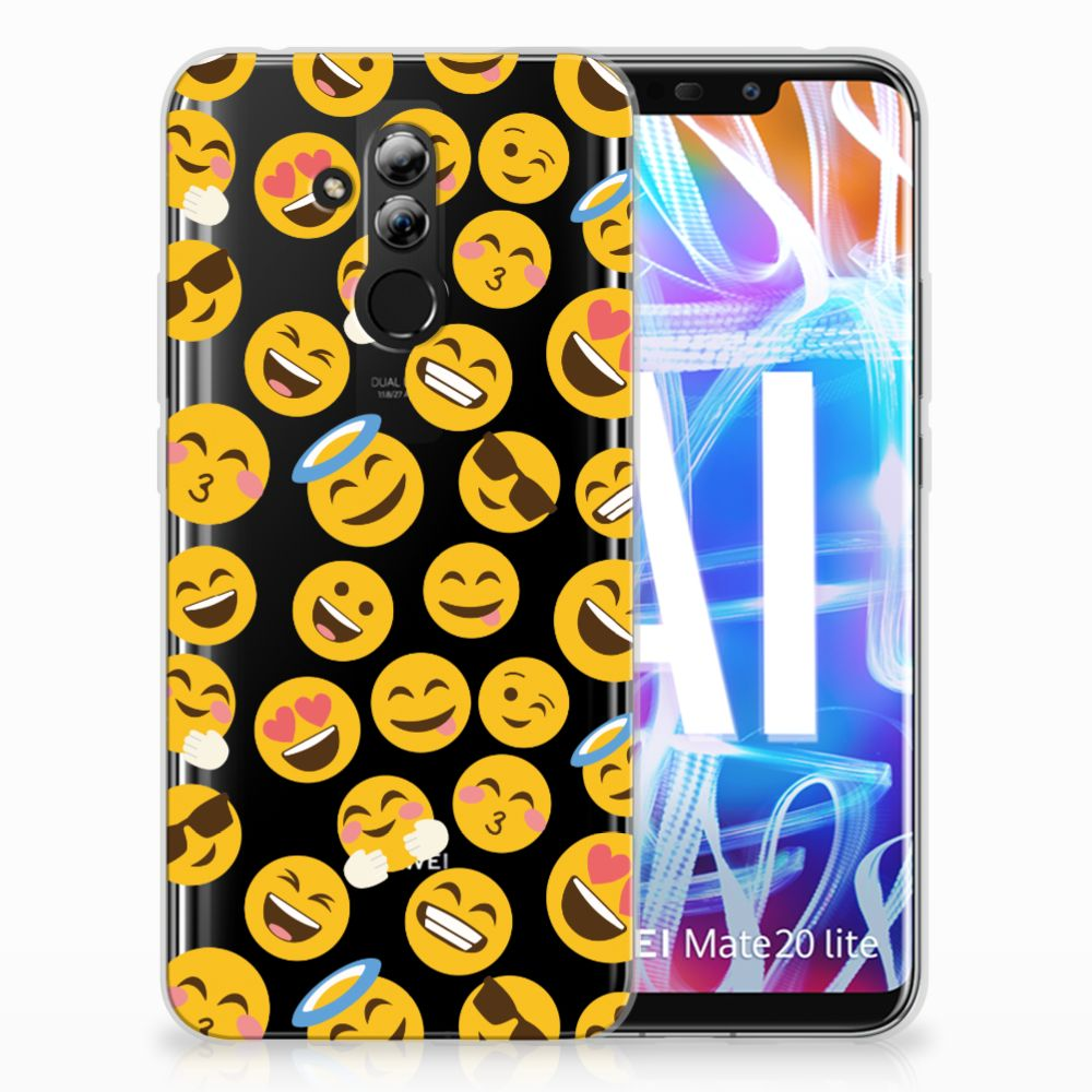 Huawei Mate 20 Lite TPU bumper Emoji