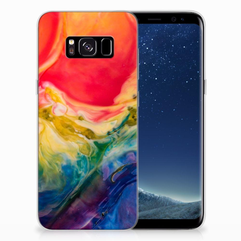 Hoesje maken Samsung Galaxy S8 Watercolor Dark
