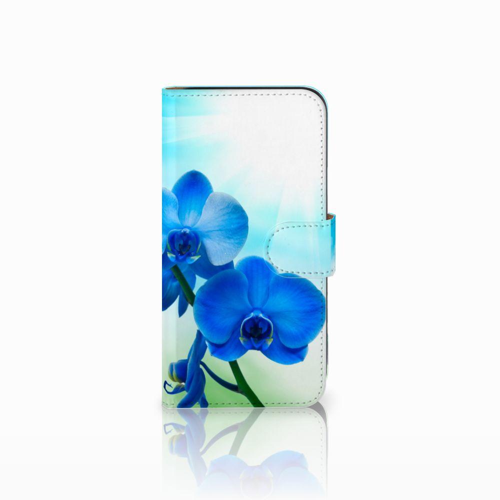 Samsung Galaxy E5 Boekhoesje Design Orchidee Blauw