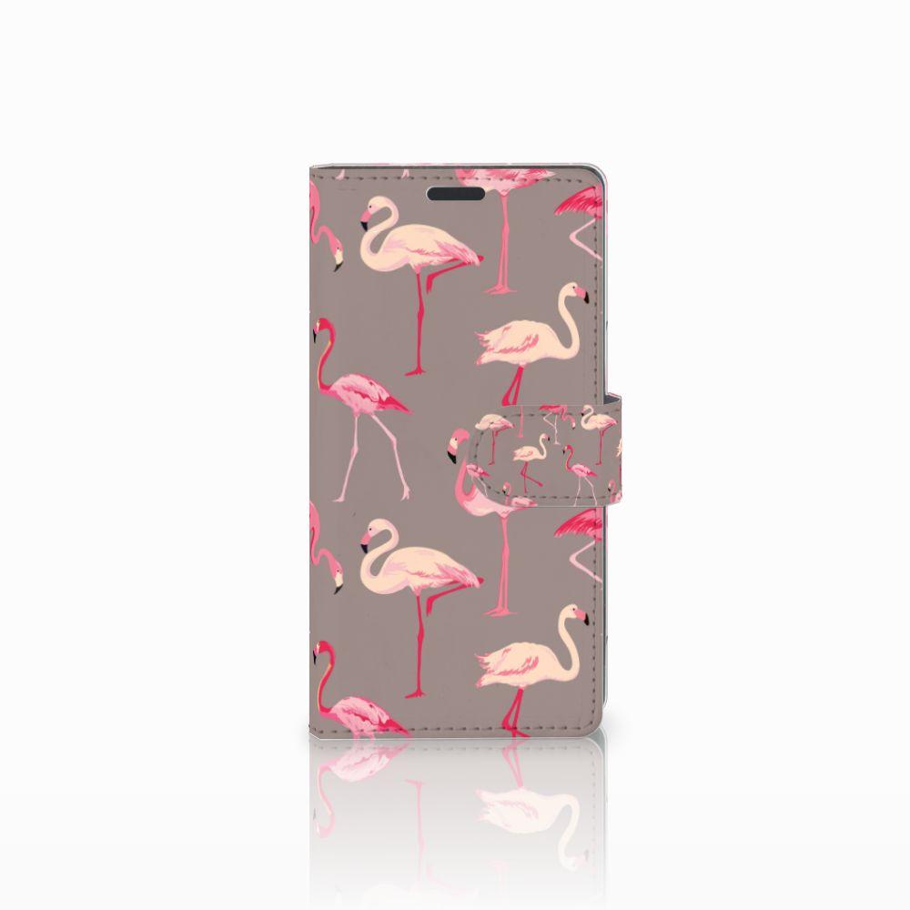 Sony Xperia Z3 Uniek Boekhoesje Flamingo