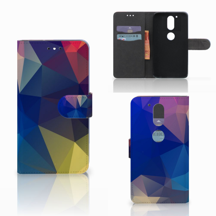 Motorola Moto G4 | G4 Plus Bookcase Polygon Dark