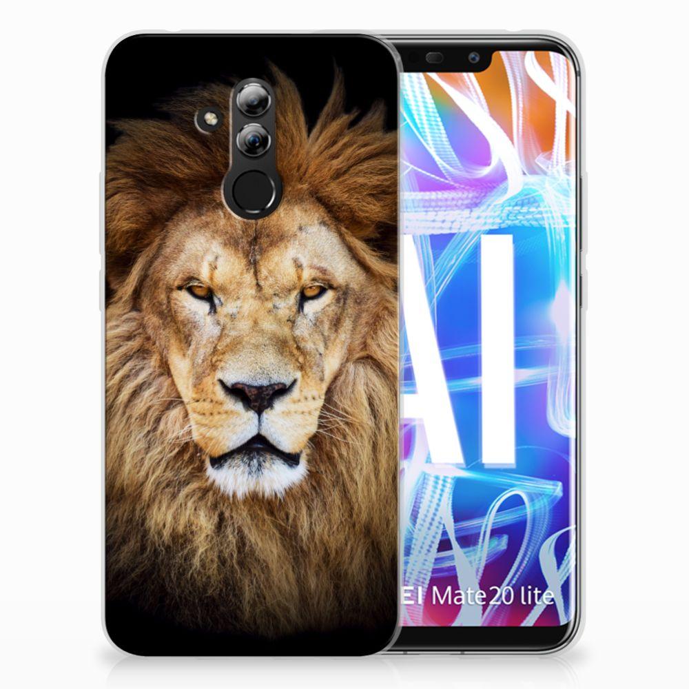 Huawei Mate 20 Lite TPU Hoesje Design Leeuw