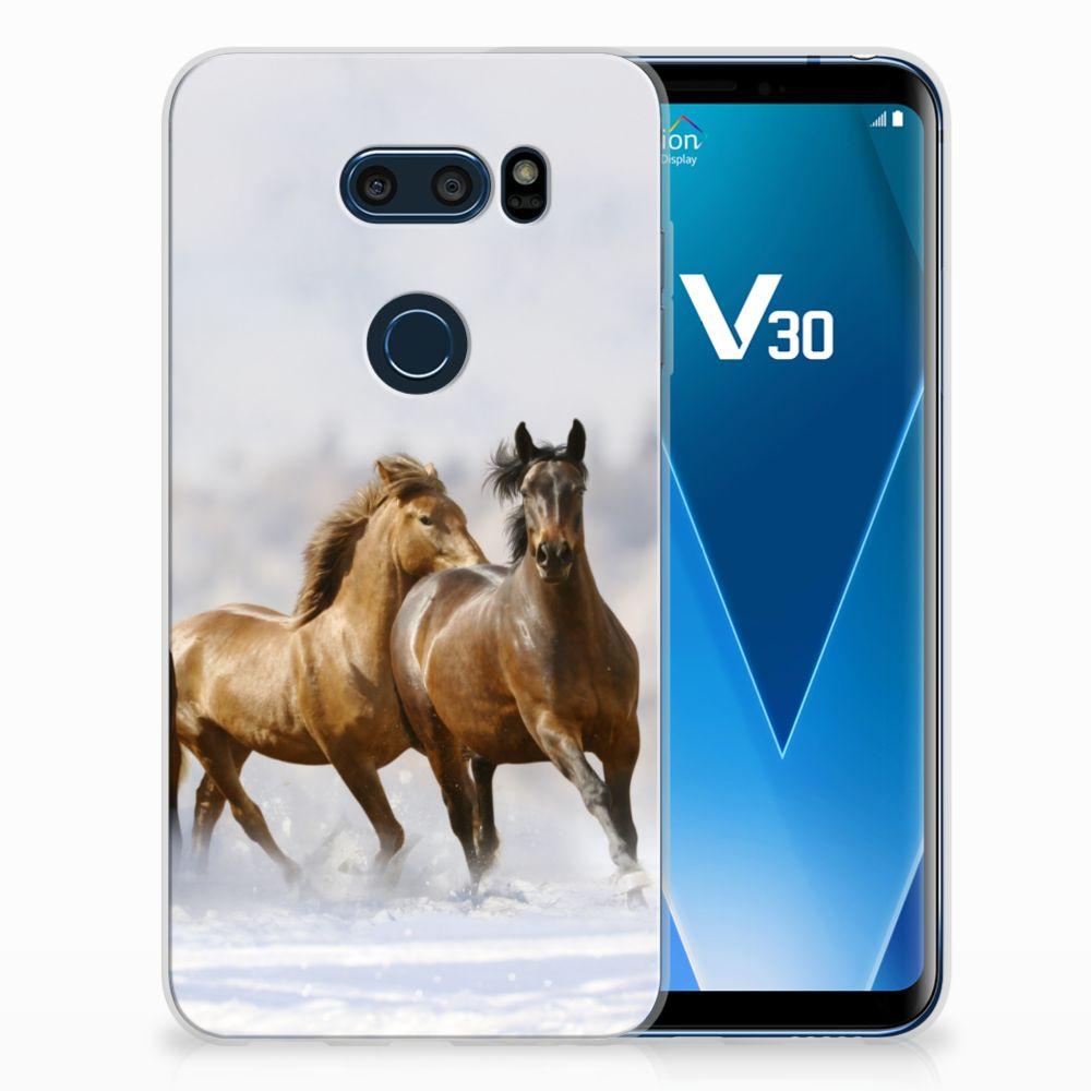 LG V30 Uniek TPU Hoesje Paarden