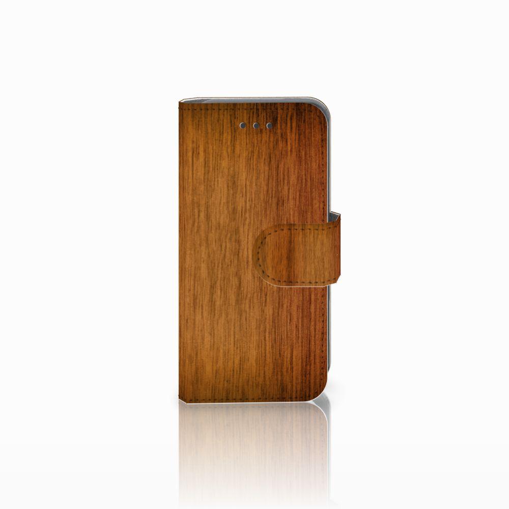 Apple iPod Touch 5 | 6 Uniek Boekhoesje Donker Hout