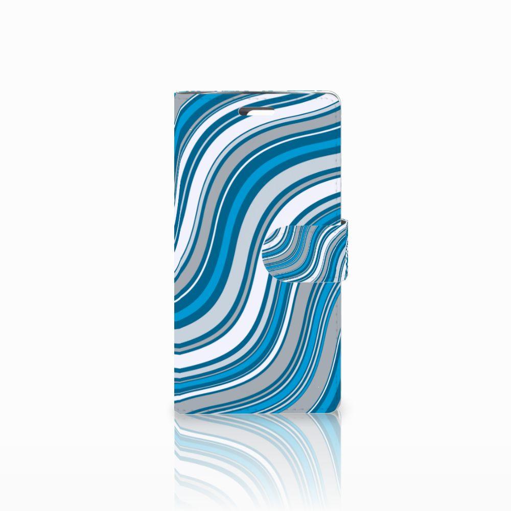 LG K10 2015 Boekhoesje Design Waves Blue