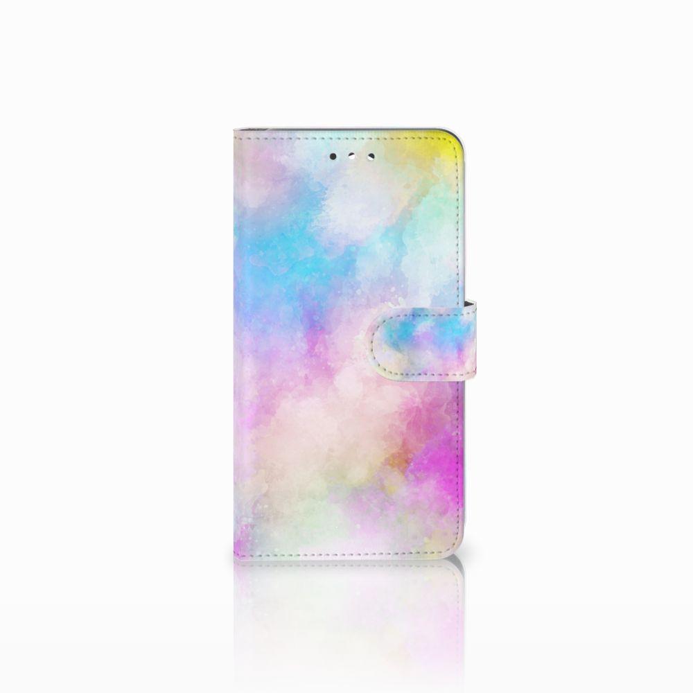 Huawei Y7 2017 | Y7 Prime 2017 Uniek Boekhoesje Watercolor Light