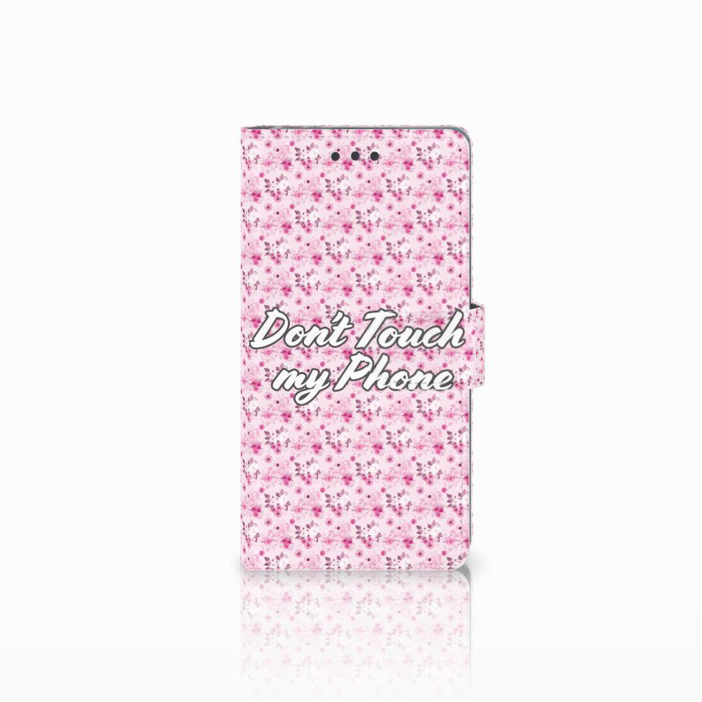 Sony Xperia E5 Uniek Boekhoesje Flowers Pink DTMP