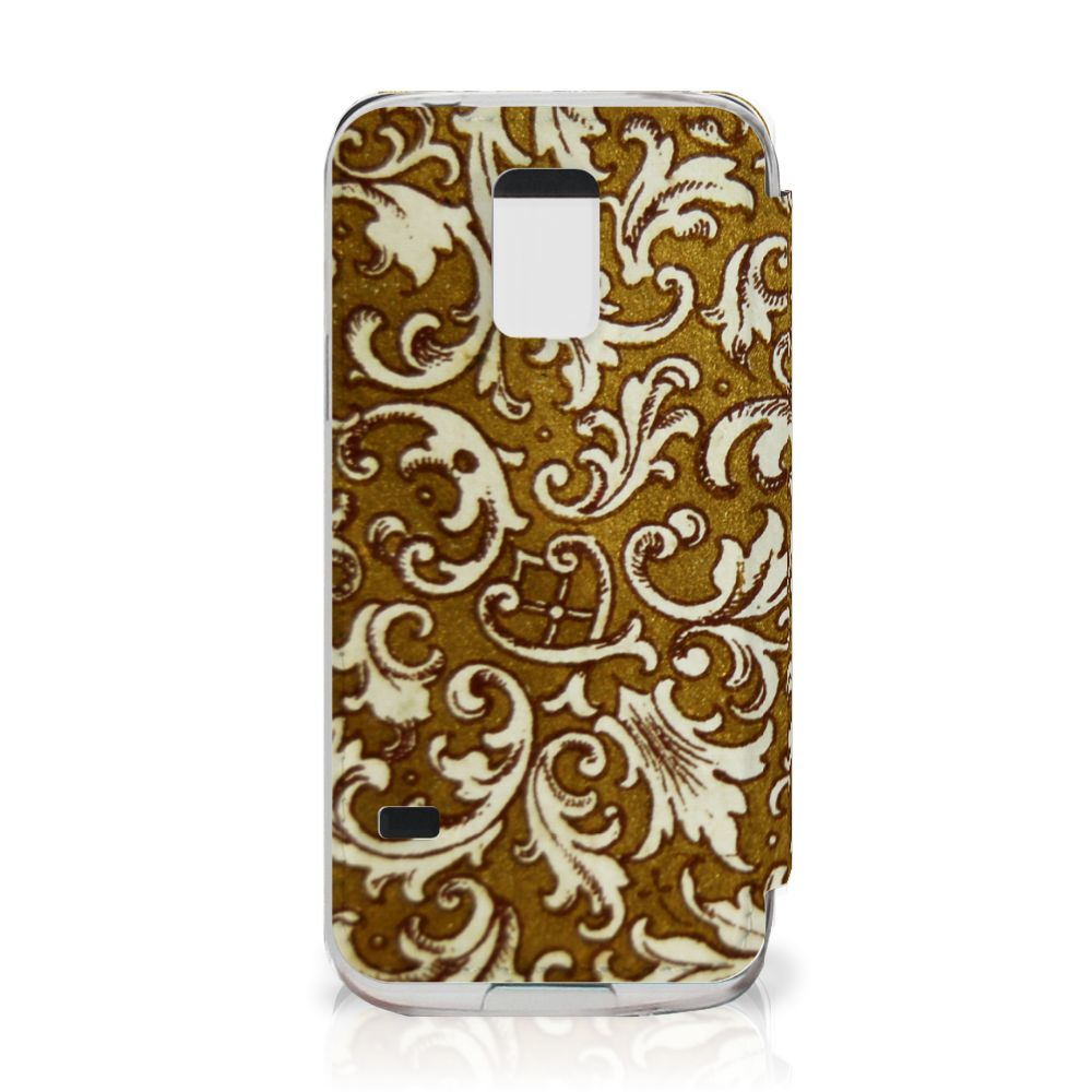 Wallet Case Samsung Galaxy S5 Mini Barok Goud