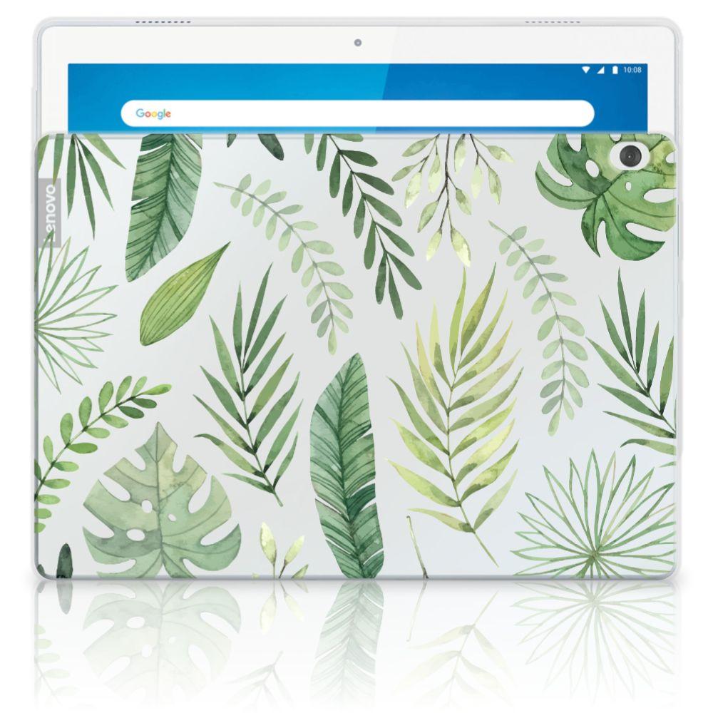 Lenovo Tab M10 Siliconen Hoesje Leaves
