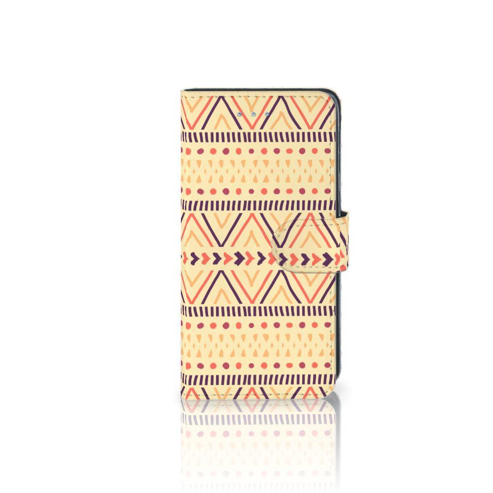 Samsung Galaxy J3 2016 Telefoon Hoesje Aztec Yellow