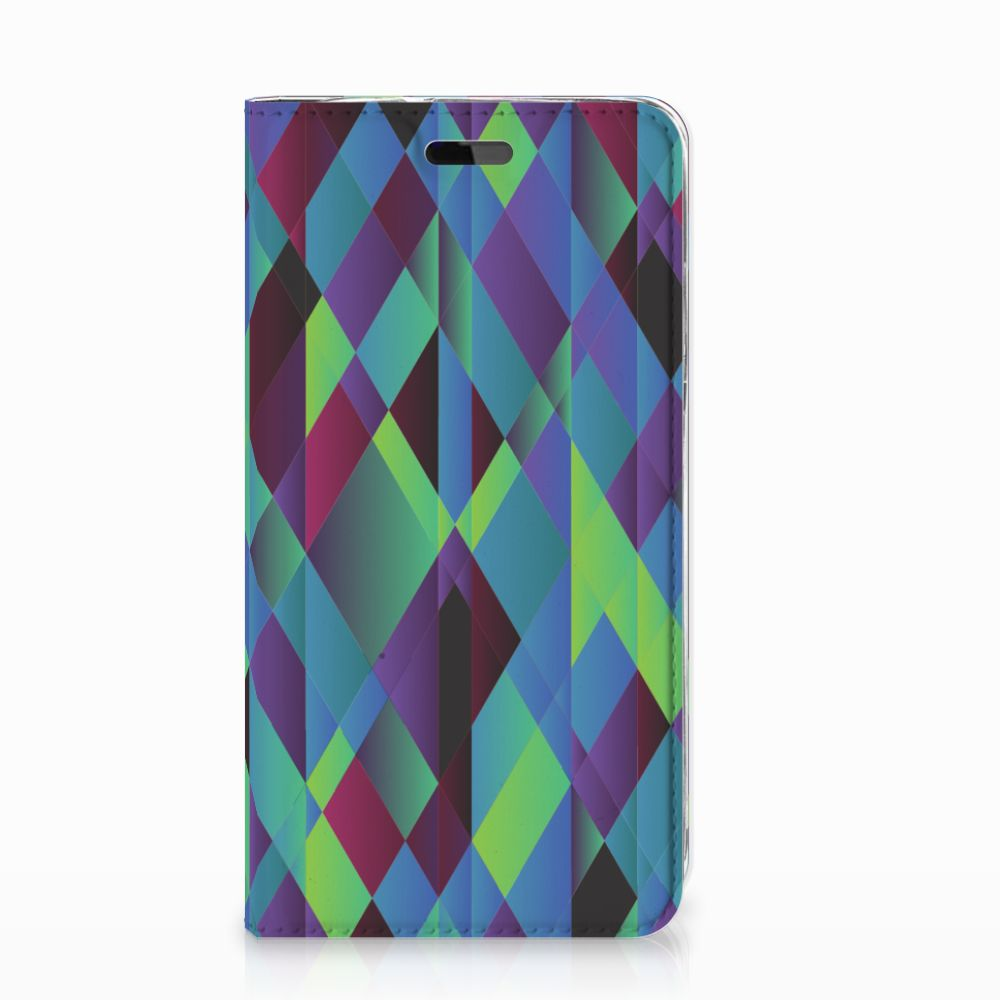 Huawei Y5 | Y6 2017 Stand Case Abstract Green Blue