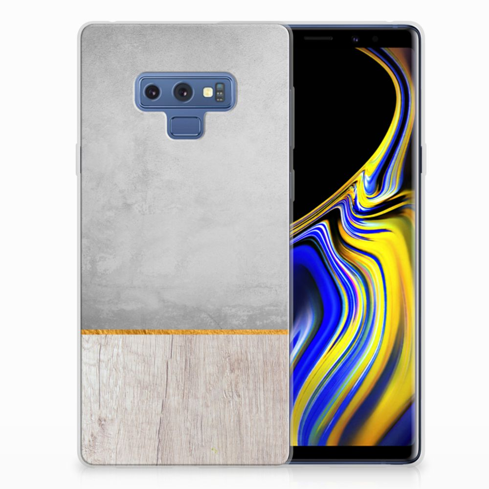 Samsung Galaxy Note 9 Uniek TPU Hoesje Wood Concrete
