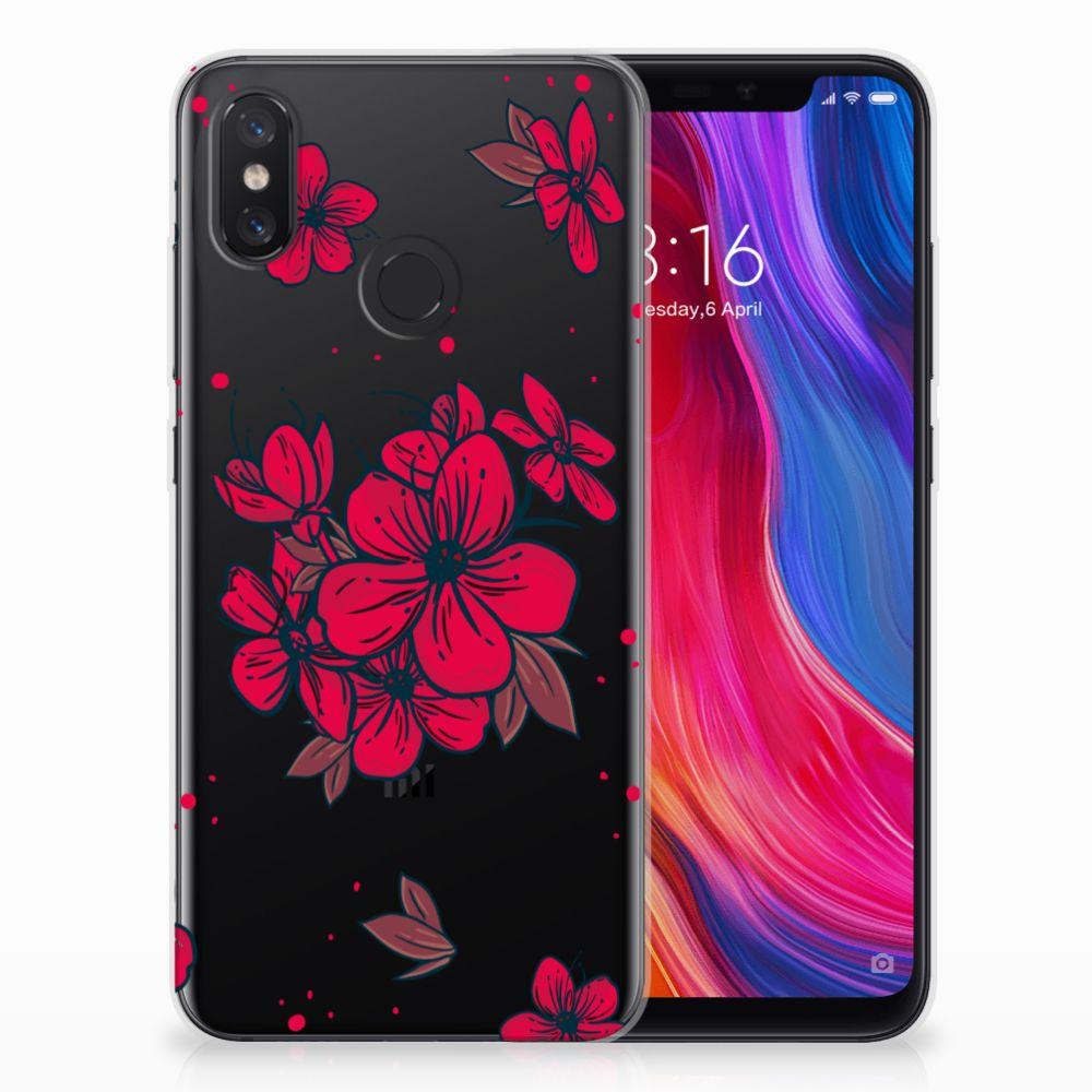 Xiaomi Mi 8 TPU Hoesje Design Blossom Red