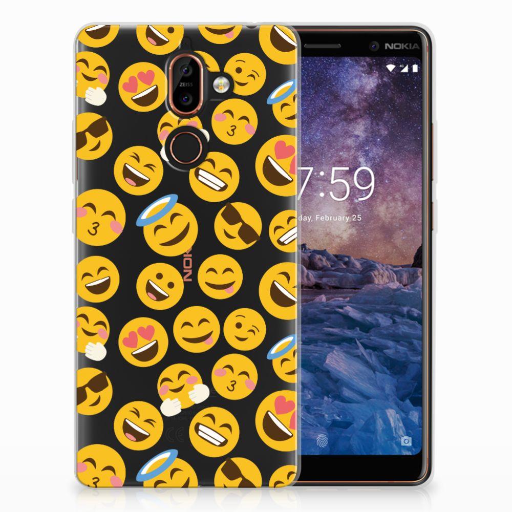 Nokia 7 Plus TPU Hoesje Design Emoji