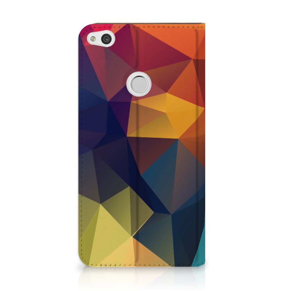 Huawei P8 Lite 2017 Standcase Hoesje Design Polygon Color
