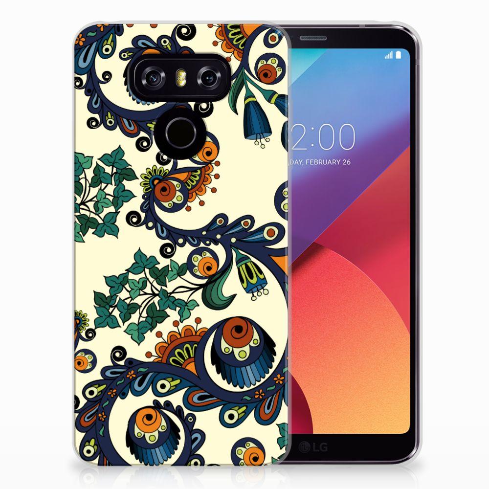 Siliconen Hoesje LG G6 Barok Flower