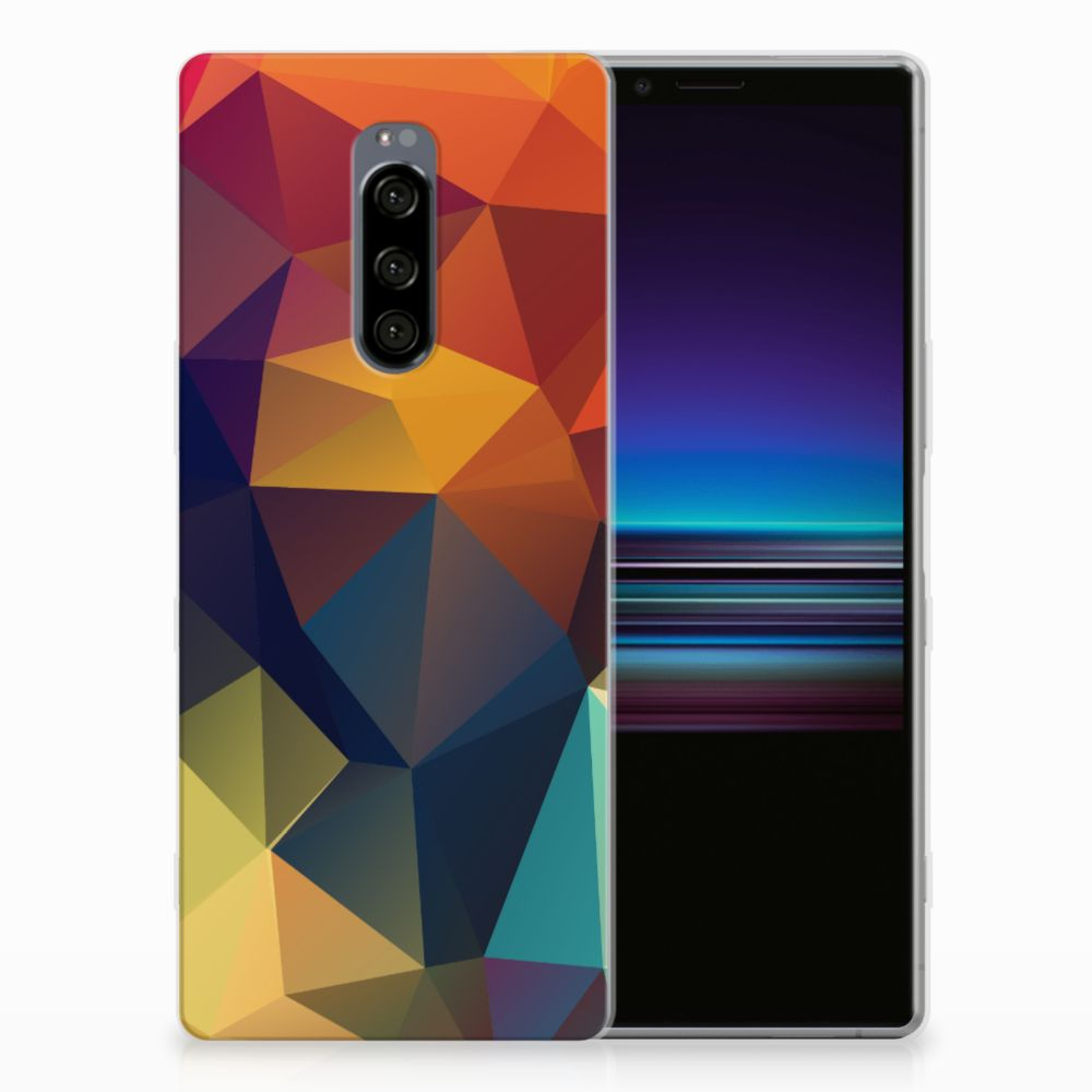 Sony Xperia 1 TPU Hoesje Polygon Color